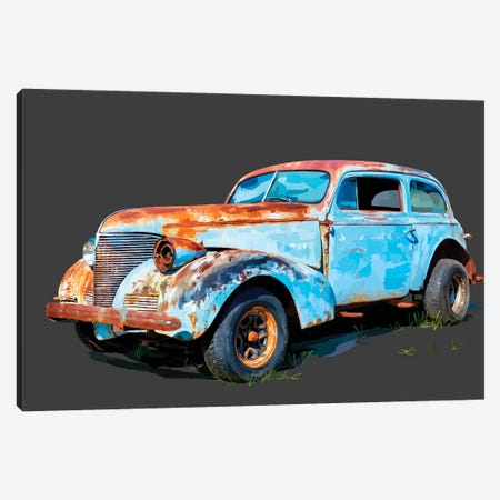 Rusty Car I Canvas Print #EKA34} by Emily Kalina Canvas Art Print