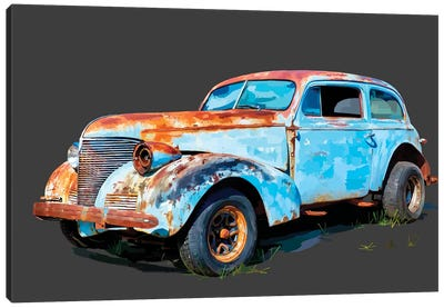 Rusty Car I Canvas Art Print