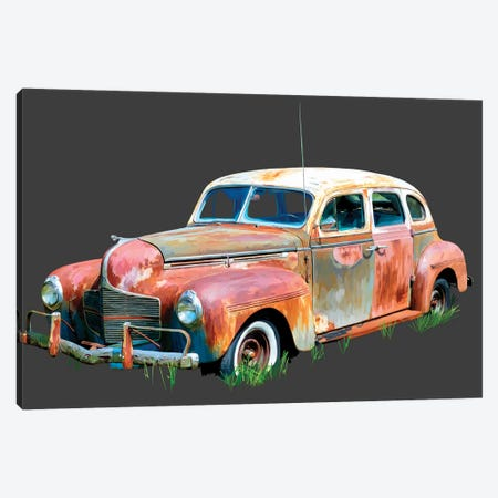 Rusty Car II 3-Piece Canvas #EKA35} by Emily Kalina Art Print