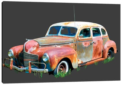 Rusty Car II Canvas Art Print