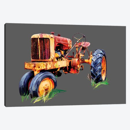 Vintage Tractor IX 3-Piece Canvas #EKA37} by Emily Kalina Canvas Print