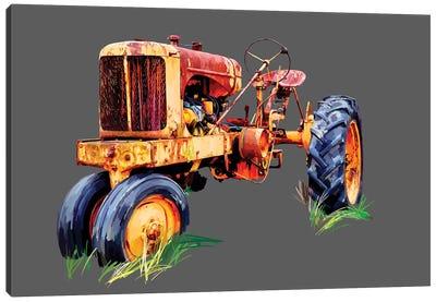 Vintage Tractor IX Canvas Art Print