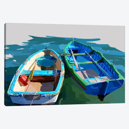 Bold Boats III Canvas Print #EKA3} by Emily Kalina Canvas Print