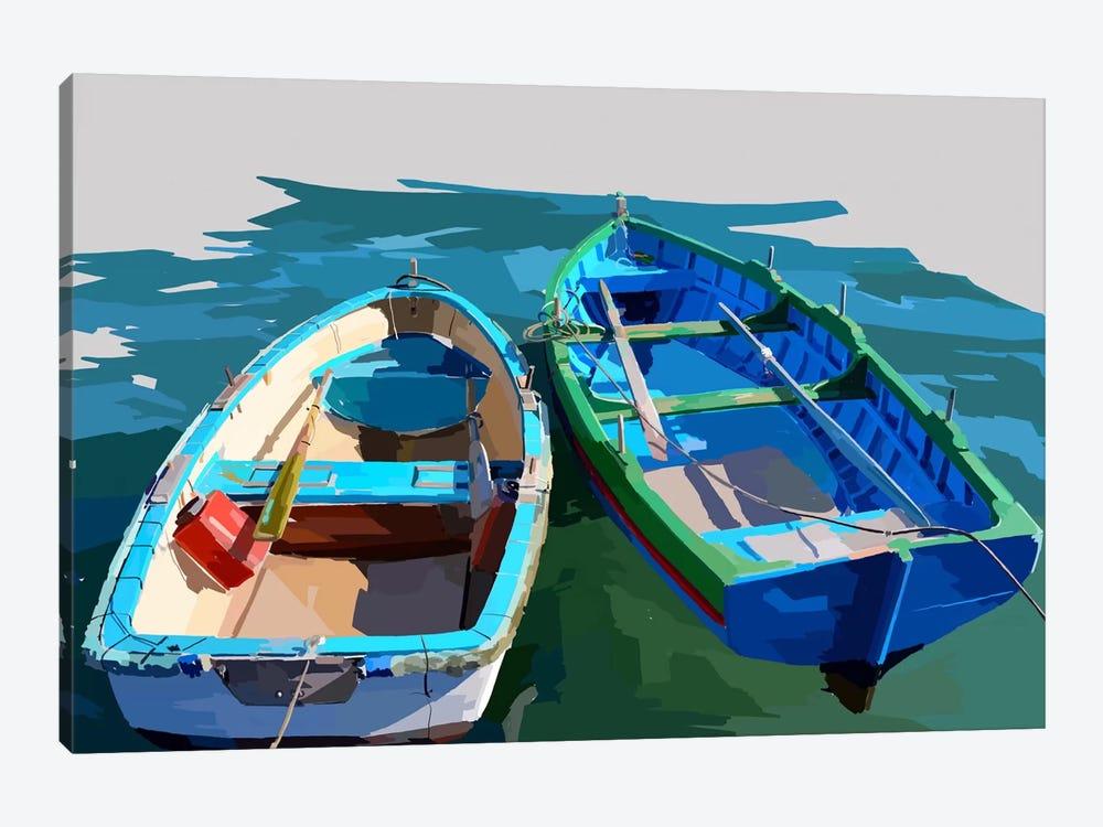 Bold Boats III by Emily Kalina 1-piece Canvas Art