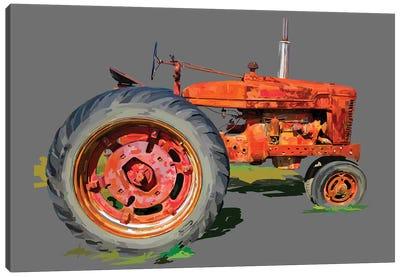 Vintage Tractor XI Canvas Art Print
