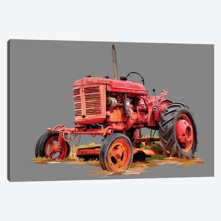 Vintage Tractor XIII 3-Piece Canvas #EKA45} by Emily Kalina Canvas Artwork