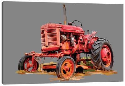 Vintage Tractor XIII Canvas Art Print