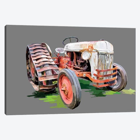 Vintage Tractor XIV 3-Piece Canvas #EKA46} by Emily Kalina Canvas Wall Art