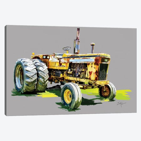 Vintage Tractor XV 3-Piece Canvas #EKA47} by Emily Kalina Canvas Art