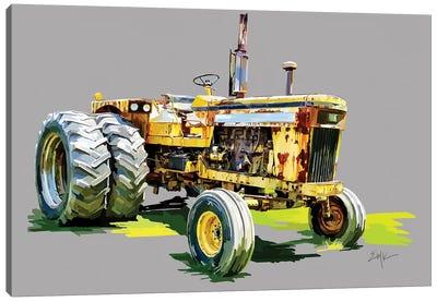 Vintage Tractor XV Canvas Art Print