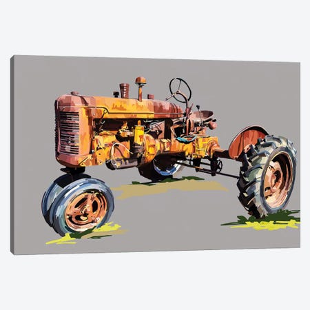 Vintage Tractor XVI 3-Piece Canvas #EKA48} by Emily Kalina Canvas Print