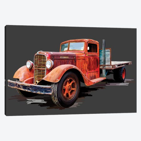 Vintage Truck I 3-Piece Canvas #EKA49} by Emily Kalina Canvas Art Print