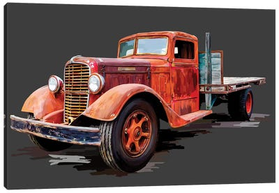 Vintage Truck I Canvas Art Print