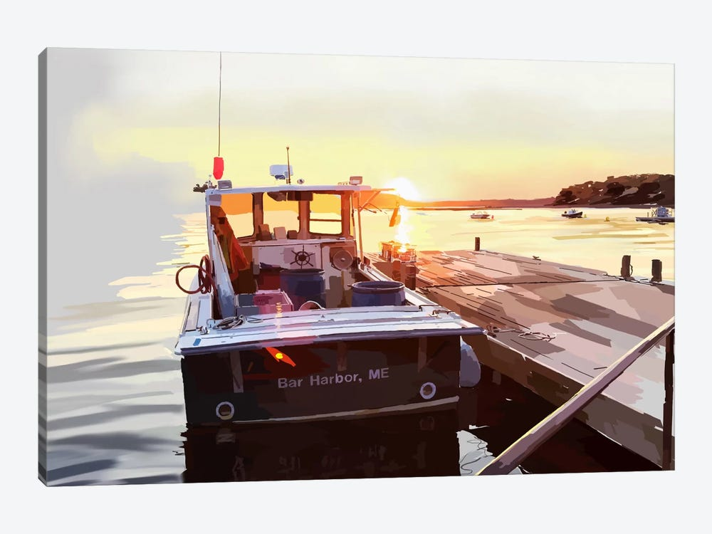 Bold Boats IV by Emily Kalina 1-piece Canvas Print
