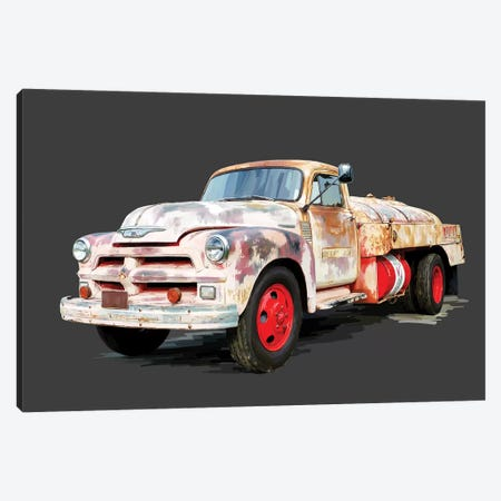 Vintage Truck II 3-Piece Canvas #EKA50} by Emily Kalina Canvas Art