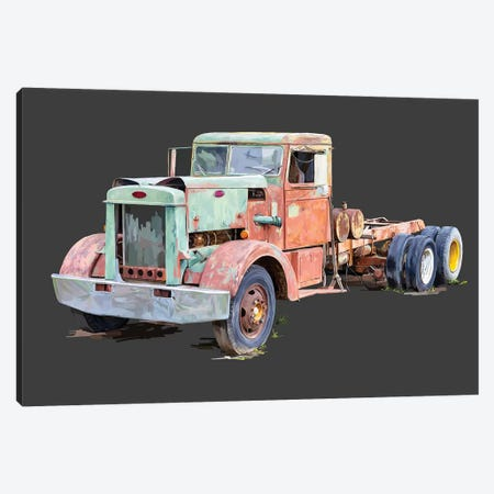 Vintage Truck III 3-Piece Canvas #EKA51} by Emily Kalina Canvas Artwork