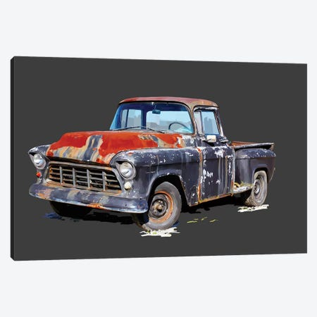 Vintage Truck IV Canvas Print #EKA52} by Emily Kalina Canvas Artwork