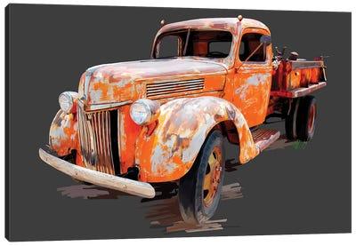 Vintage Truck V Canvas Art Print