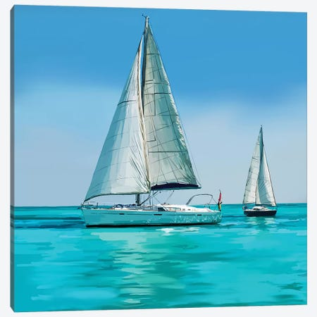 Sailing Portrait IV Canvas Print #EKA57} by Emily Kalina Canvas Art Print