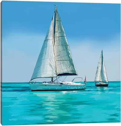 Sailing Portrait IV Canvas Art Print