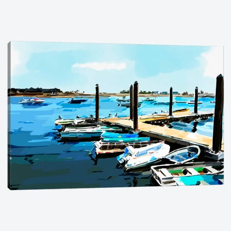 Bold Boats V Canvas Print #EKA5} by Emily Kalina Canvas Art