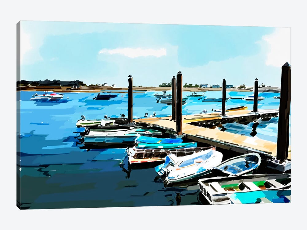 Bold Boats V by Emily Kalina 1-piece Canvas Artwork