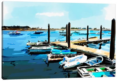 Bold Boats V Canvas Art Print