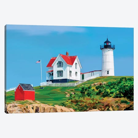 Nubble House I Canvas Print #EKA65} by Emily Kalina Canvas Art