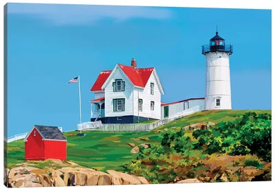 Nubble House I Canvas Art Print