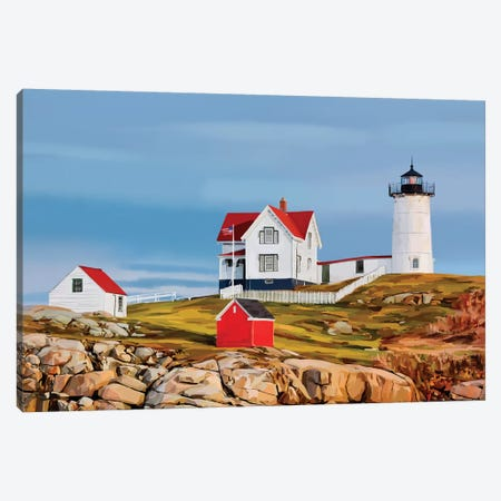 Nubble House II Canvas Print #EKA66} by Emily Kalina Canvas Wall Art