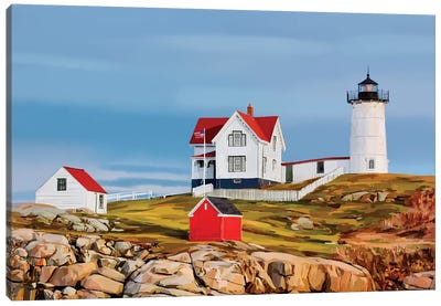 Nubble House II Canvas Art Print