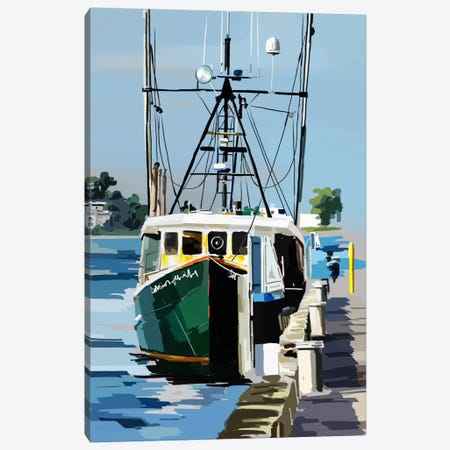 Bold Boats VI Canvas Print #EKA6} by Emily Kalina Canvas Wall Art