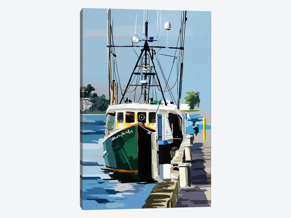 Bold Boats VI 1-piece Canvas Print