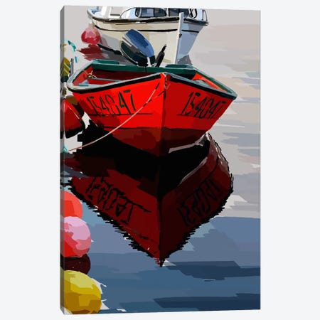Bold Boats VII Canvas Print #EKA7} by Emily Kalina Canvas Wall Art