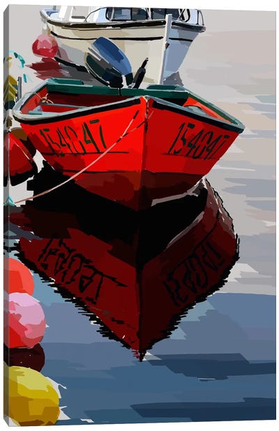 Bold Boats VII Canvas Art Print