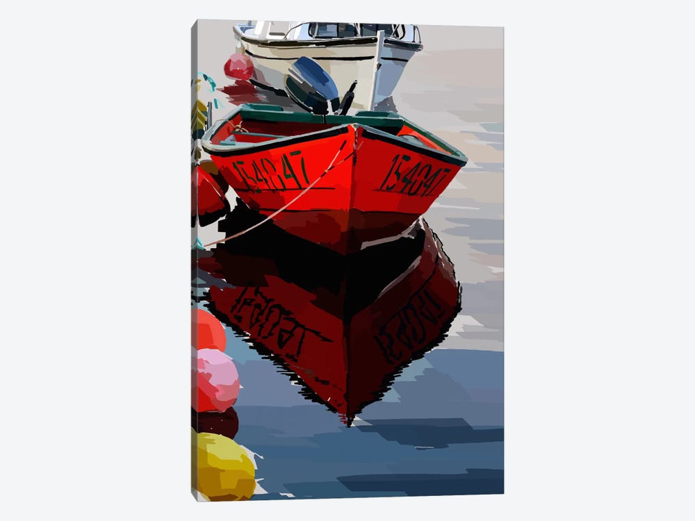 Bold Boats VII by Emily Kalina 1-piece Canvas Wall Art