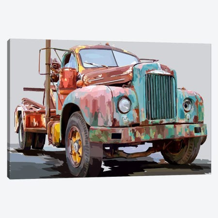 Powerful Truck I Canvas Print #EKA9} by Emily Kalina Canvas Print