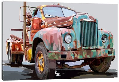 Powerful Truck I Canvas Art Print