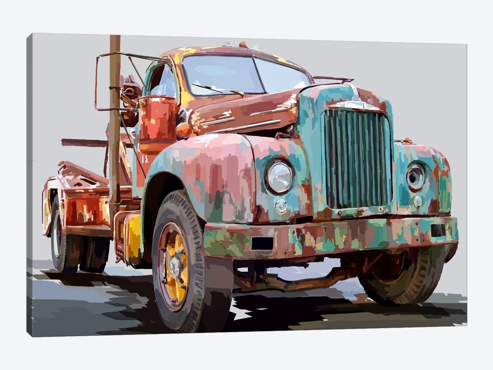 Powerful Truck I by Emily Kalina 1-piece Canvas Art
