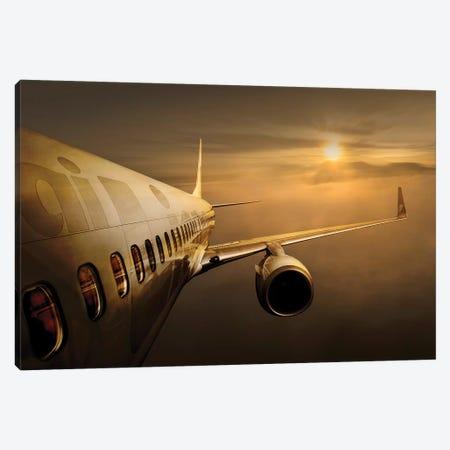 Golden Flight Canvas Print #EKK2} by Ekkachai Khemkum Art Print