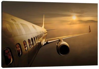 Golden Flight Canvas Art Print