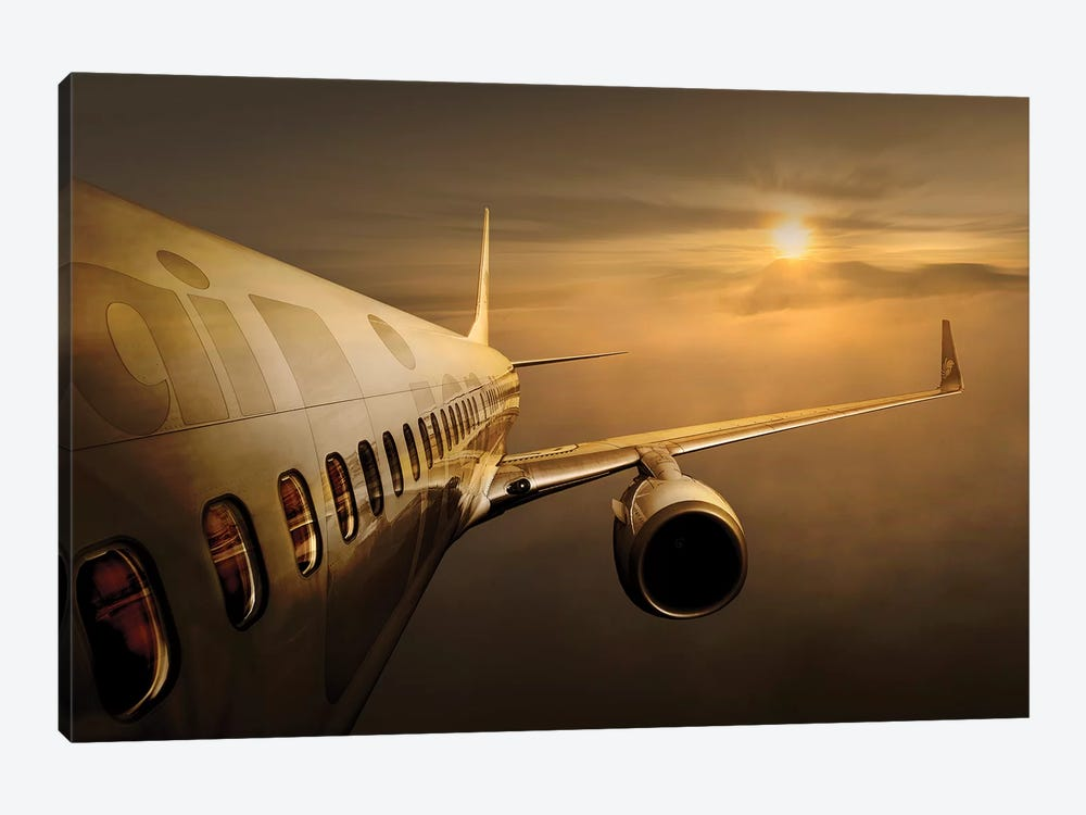 Golden Flight by Ekkachai Khemkum 1-piece Canvas Art Print