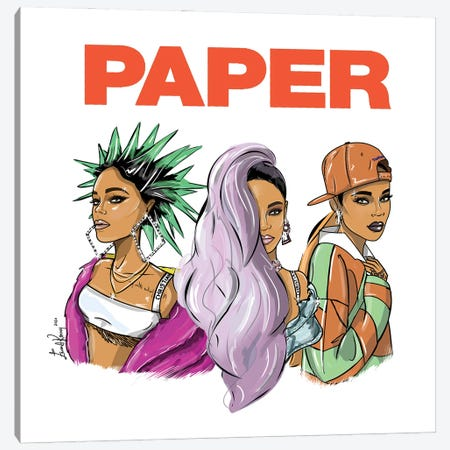 Rihanna, Break The Rules Canvas Print #EKN11} by Emma Kenny Canvas Print