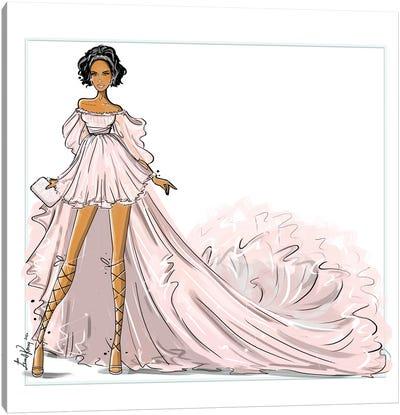 Rihanna In Giambattista Valli Canvas Art Print