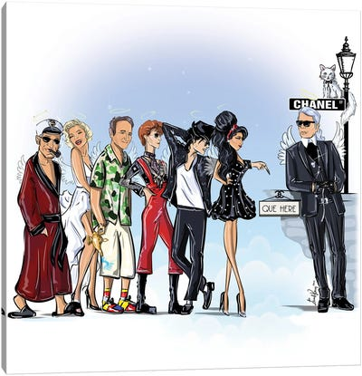 Queing For Karl Canvas Art Print
