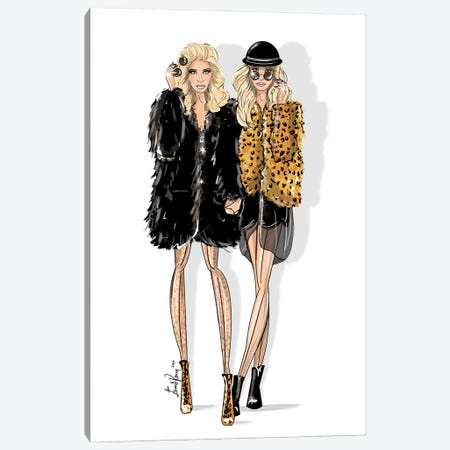 Mary Kate & Ashley Olsen Canvas Print #EKN23} by Emma Kenny Canvas Wall Art