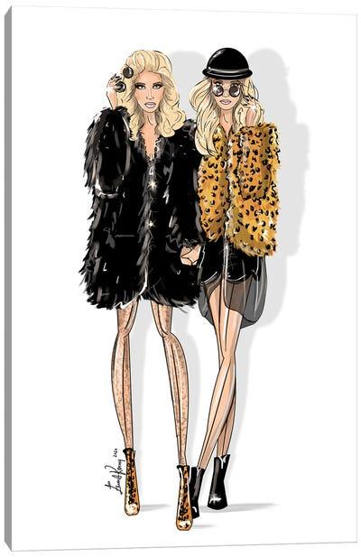 Mary Kate & Ashley Olsen Canvas Art Print