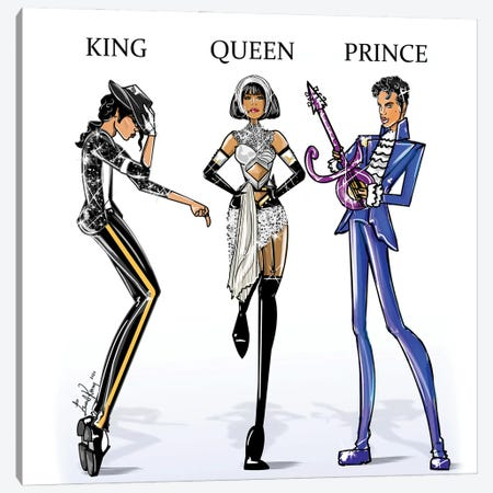 King Queen Prince Canvas Print #EKN26} by Emma Kenny Canvas Print