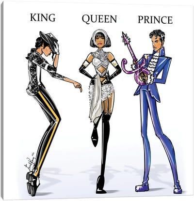 King Queen Prince Canvas Art Print