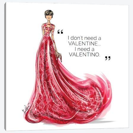 I Need Valentino Canvas Print #EKN28} by Emma Kenny Canvas Artwork